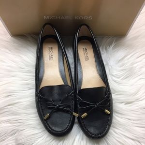 Michael Kors Black Leather Loafers 6M